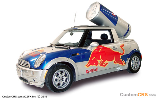 Red Bull Cars Promotion Red Bull Mini Cooper Promotional