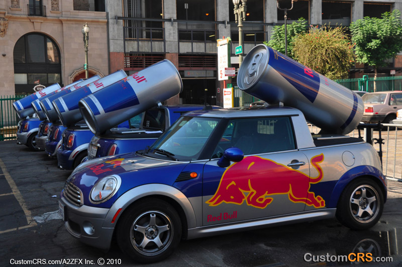 red bull mini cooper promotional marketing vehicles. Black Bedroom Furniture Sets. Home Design Ideas